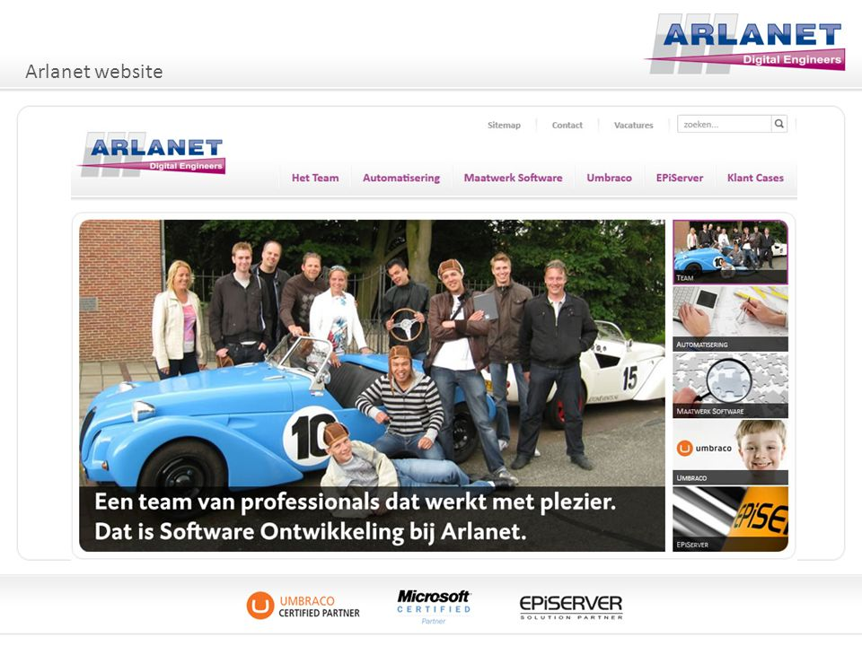 Arlanet website