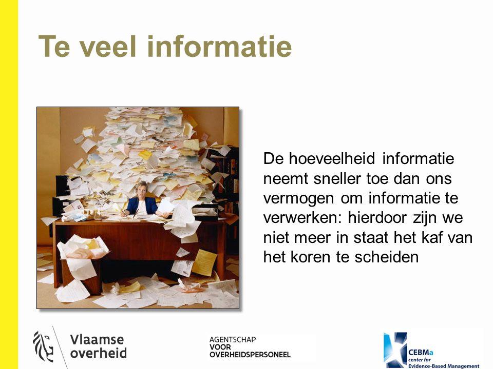 De hoeveelheid informatie neemt sneller toe dan ons vermogen om informatie te verwerken: hierdoor zijn we niet meer in staat het kaf van het koren te