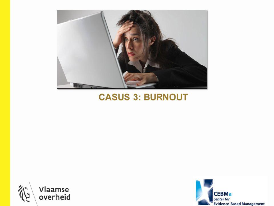 CASUS 3: BURNOUT