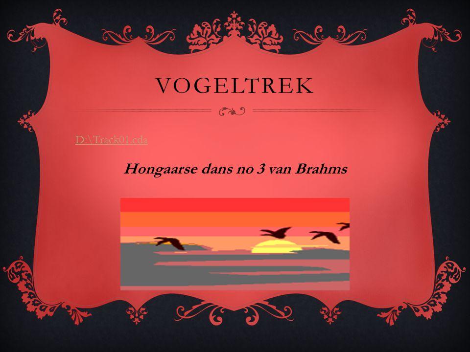 VOGELTREK D:\Track01.cda Hongaarse dans no 3 van Brahms