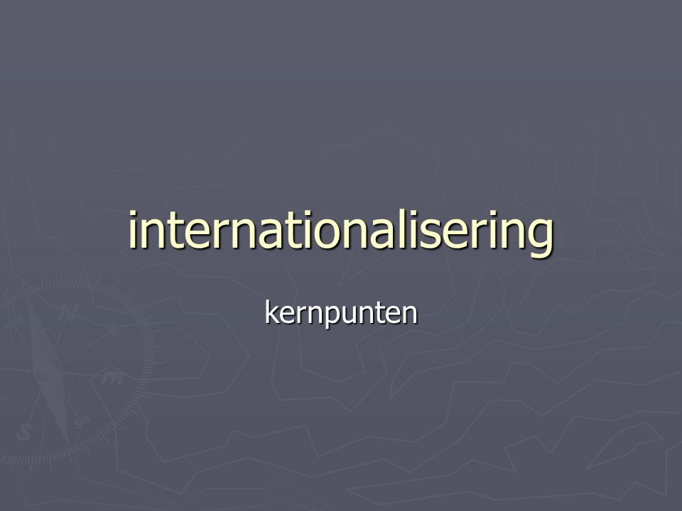 internationalisering kernpunten