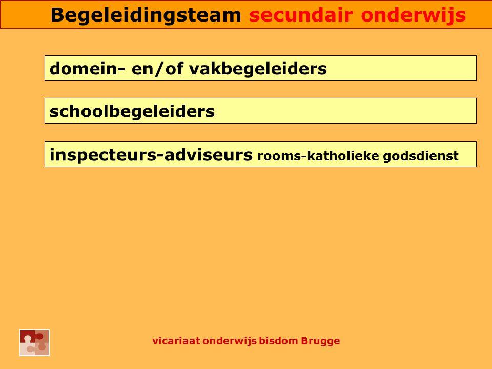 inspecteurs-adviseurs rooms-katholieke godsdienst schoolbegeleiders domein- en/of vakbegeleiders vicariaat onderwijs bisdom Brugge Begeleidingsteam se