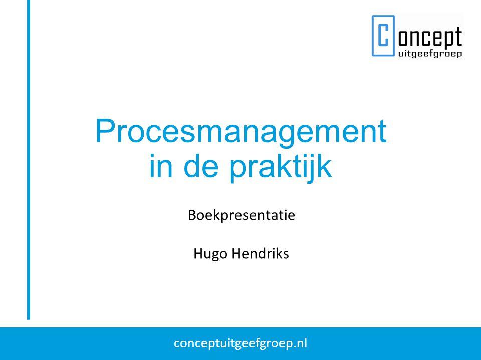 conceptuitgeefgroep.nl Procesmanagement in de praktijk Boekpresentatie Hugo Hendriks
