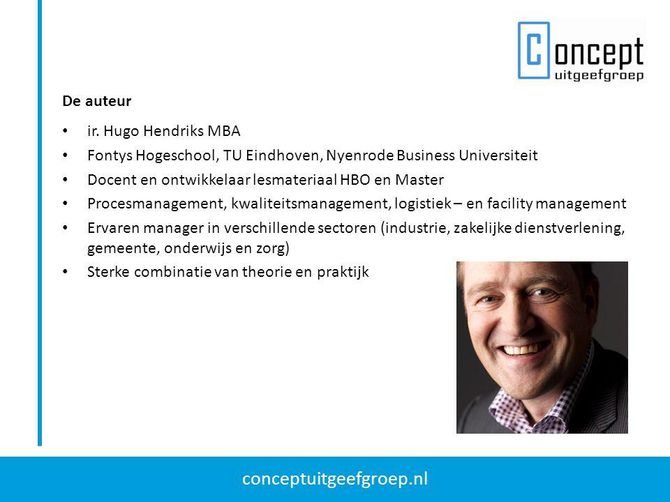 conceptuitgeefgroep.nl ir. Hugo Hendriks MBA Fontys Hogeschool, TU Eindhoven, Nyenrode Business Universiteit Docent en ontwikkelaar lesmateriaal HBO e