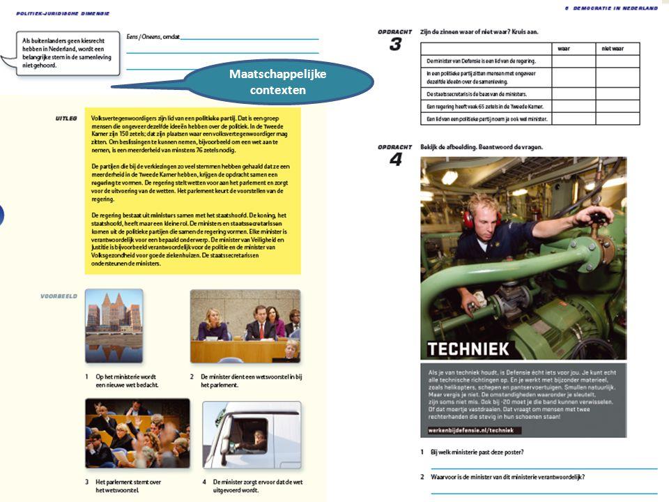 16 maart 2012 Maatschappelijke contexten