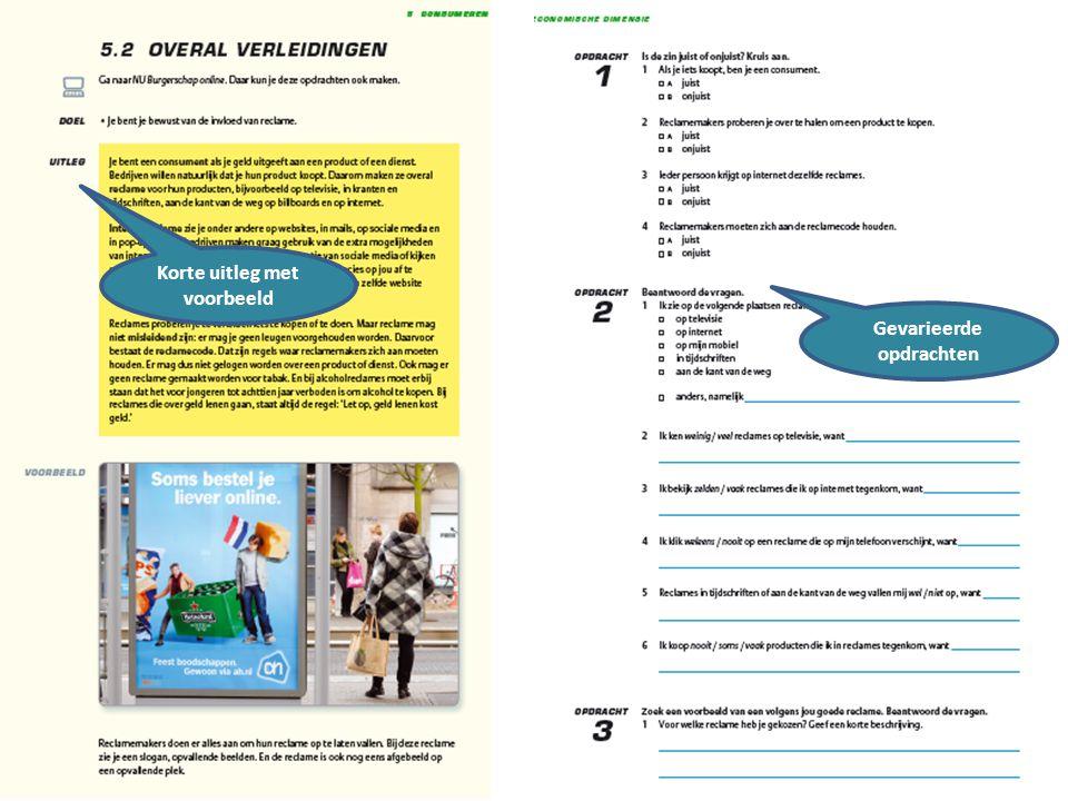 16 maart 2012 Korte uitleg met voorbeeld Gevarieerde opdrachten
