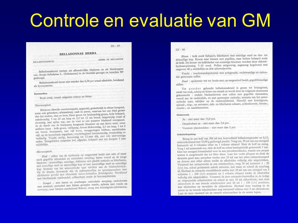 Controle en evaluatie van GM