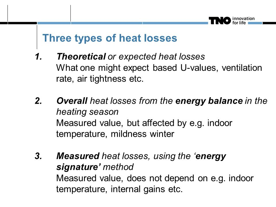 1. Theoretical or expected heat losses