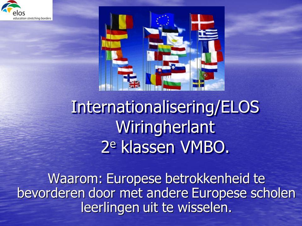 Internationalisering/ELOS Wiringherlant 2 e klassen VMBO.