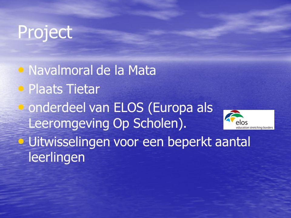 Navalmoral de la Mata Plaats Tietar onderdeel van ELOS (Europa als Leeromgeving Op Scholen).