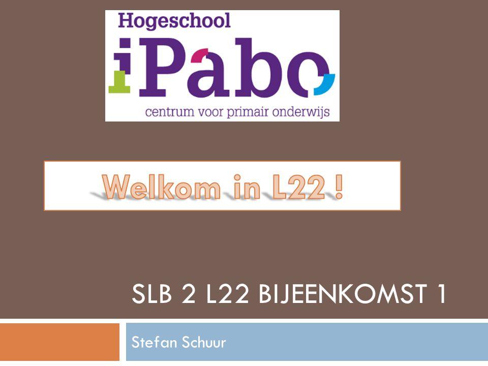 SLB 2 L22 BIJEENKOMST 1 Stefan Schuur