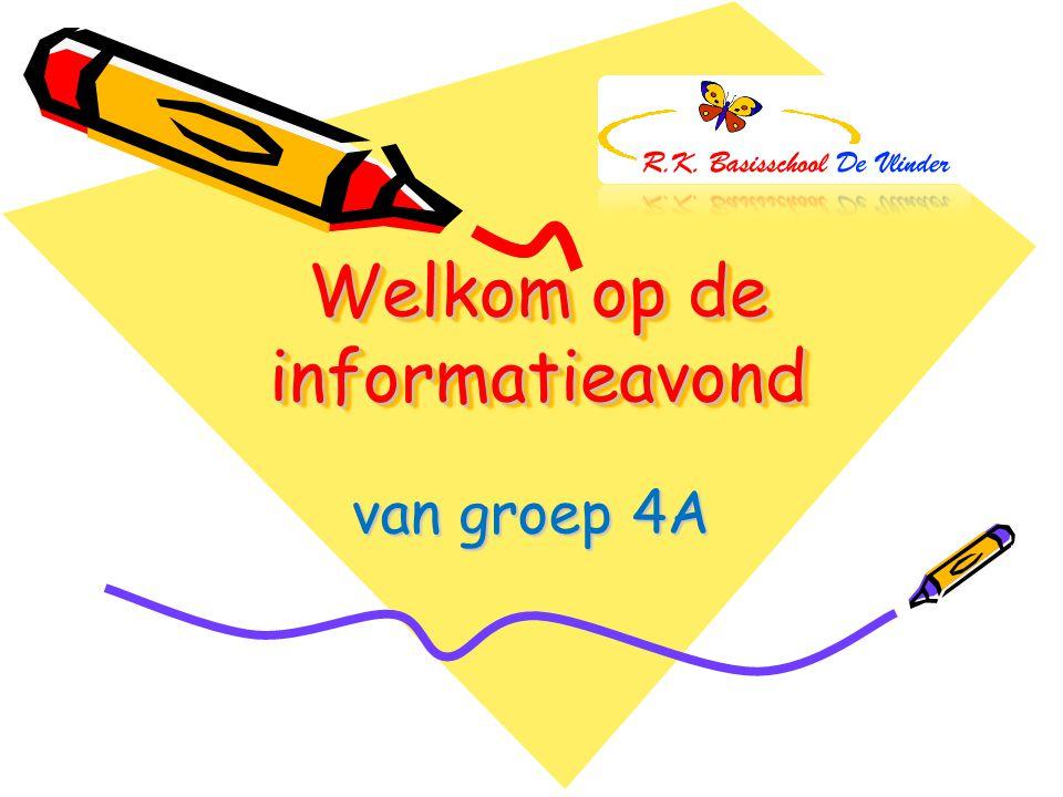 Welkom op de informatieavond van groep 4A
