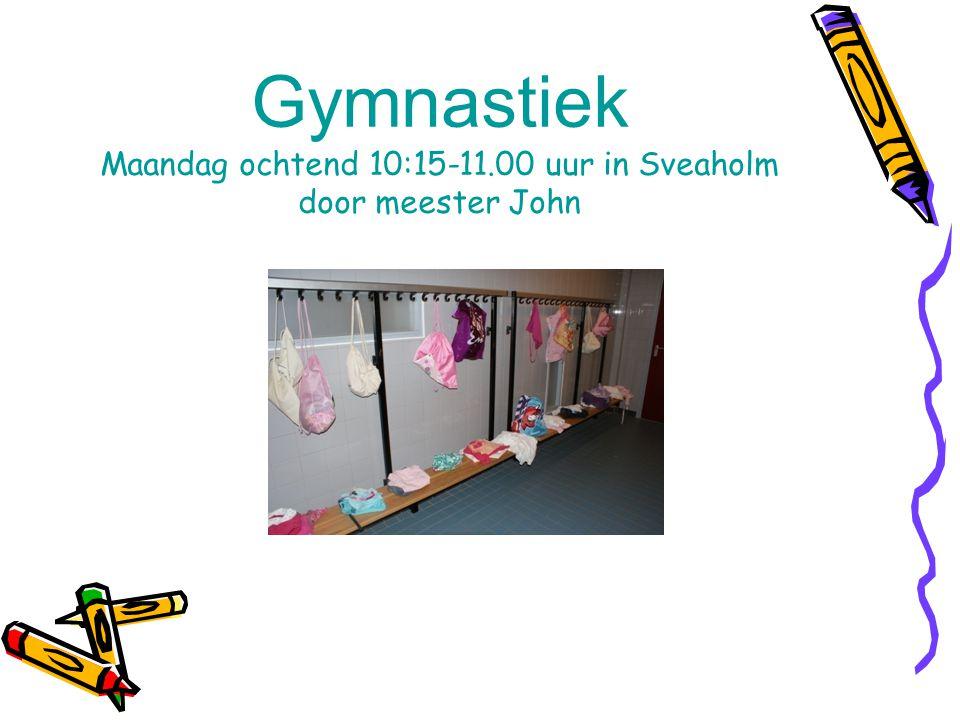 Gymnastiek Maandag ochtend 10:15-11.00 uur in Sveaholm door meester John