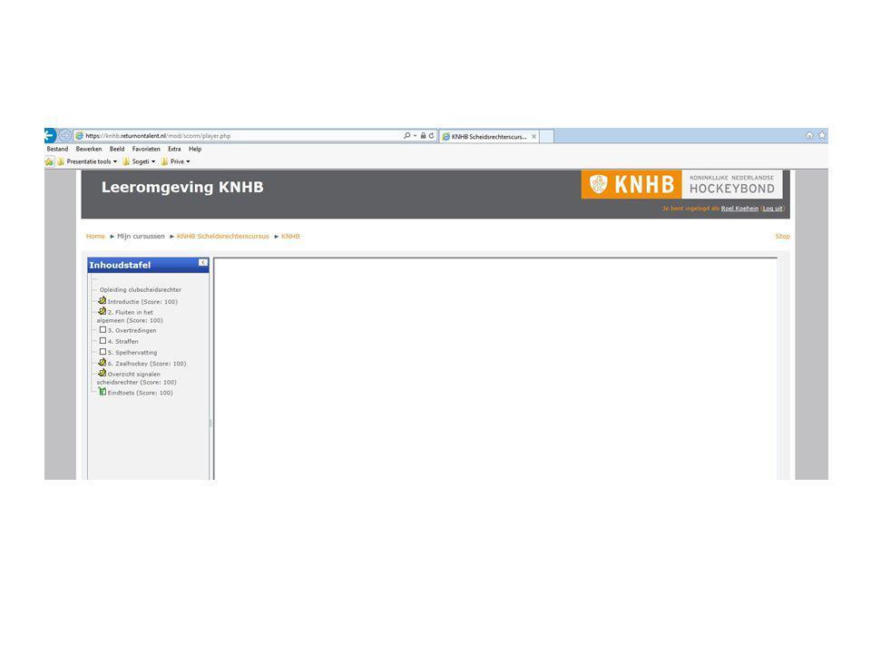 Uitleg cursus (2) Lees ook eens de regels door Ga hiervoor naar www.knhb.nlwww.knhb.nl