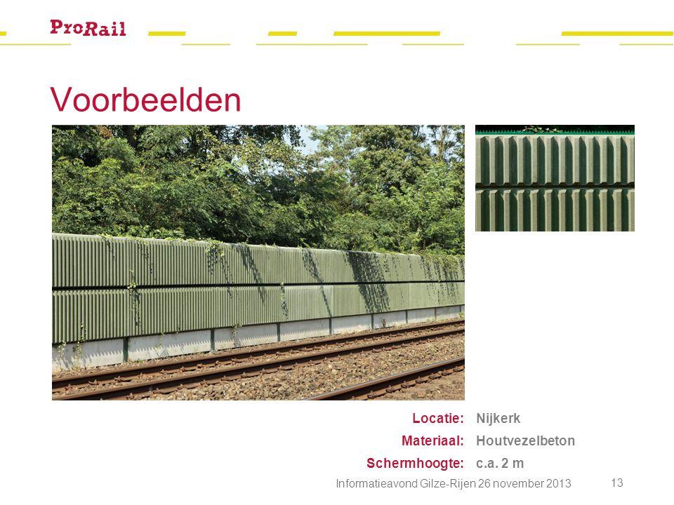 Voorbeelden Locatie: Materiaal: Schermhoogte: Nijkerk Houtvezelbeton c.a.