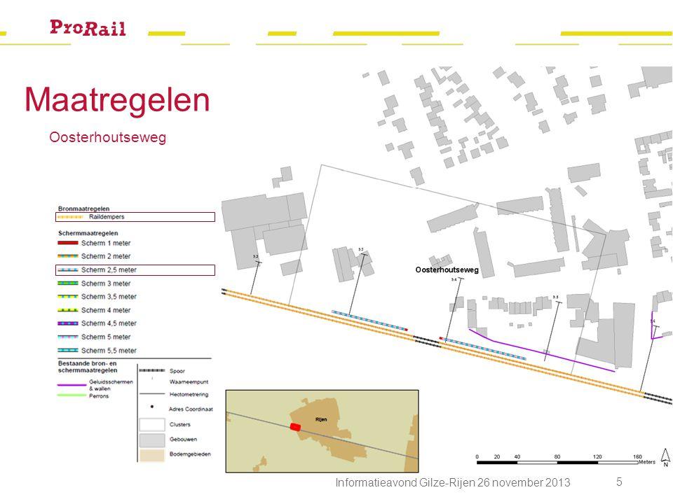Maatregelen Oosterhoutseweg 5 Informatieavond Gilze-Rijen 26 november 2013