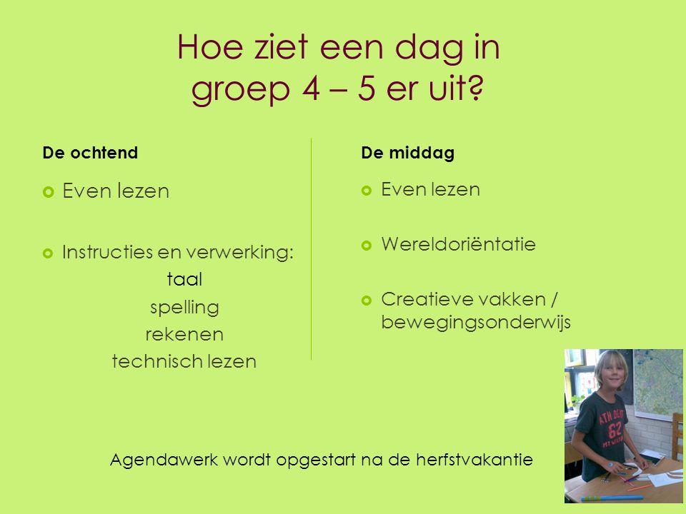 De vakgebieden  Rekenen Rekenen  Taal Taal  Spelling Spelling  Schrijven  Lezen Lezen  Wereldoriëntatie: Wereldoriëntatie: Natuur en techniek Verkeer Kleur Engels groep 5