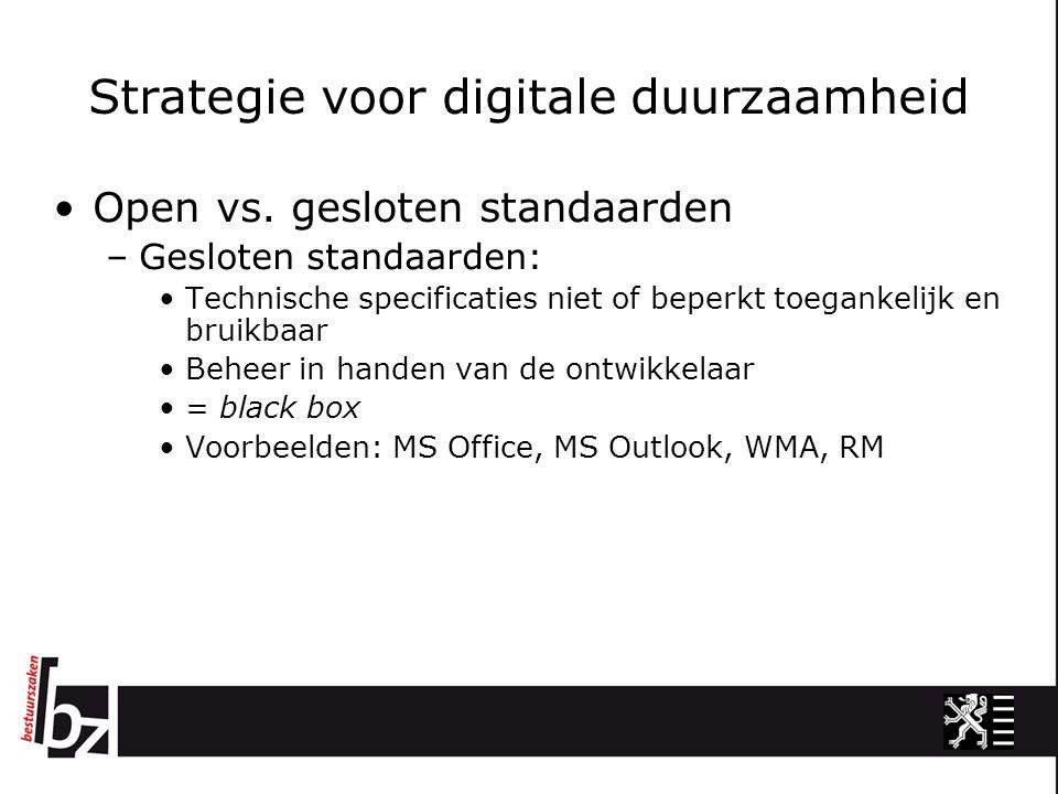 Strategie voor digitale duurzaamheid Open vs.