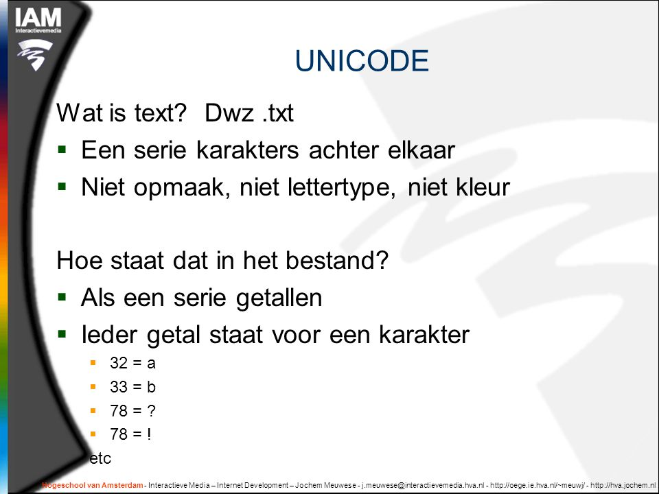 UNICODE Wat is text.