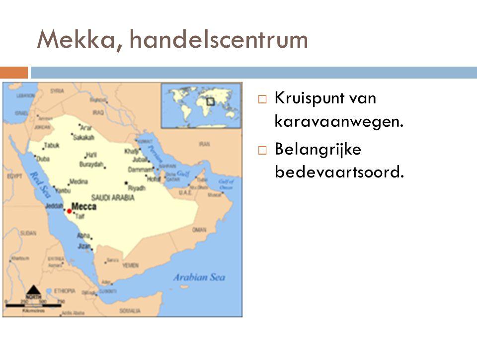 Mekka, bedevaartsoord (bron 4)  Men kwam de Ka'aba om de goden te vereren.