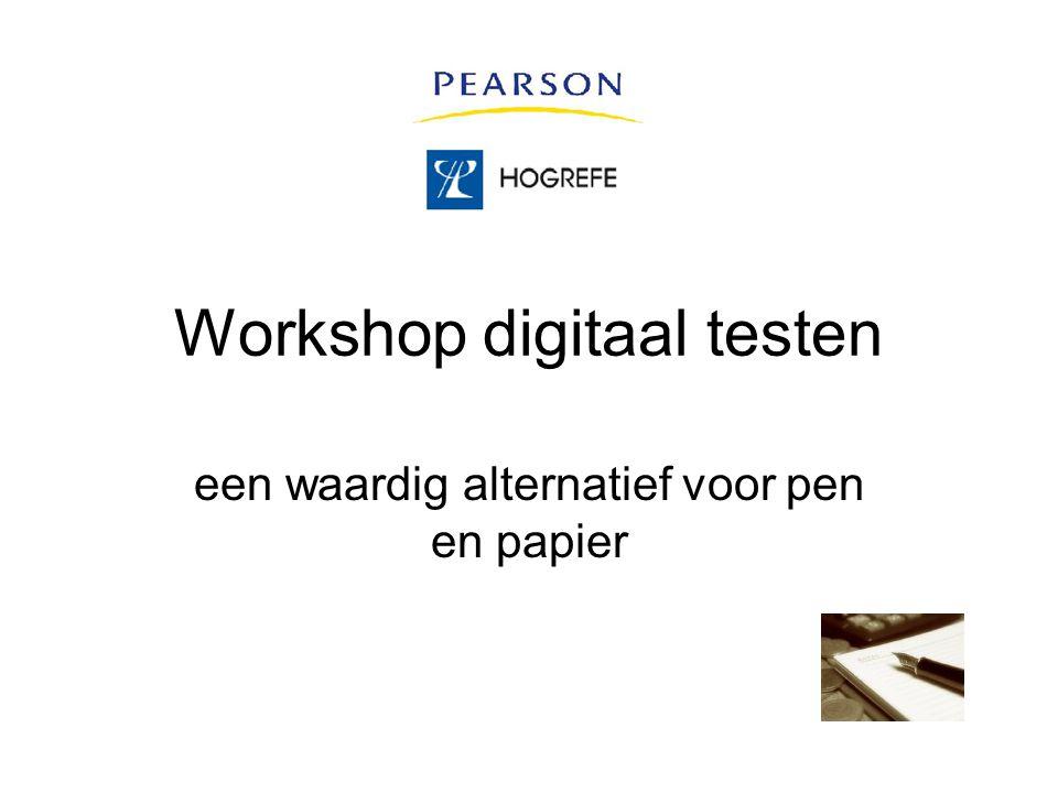 Workshop digitaal testen een waardig alternatief voor pen en papier