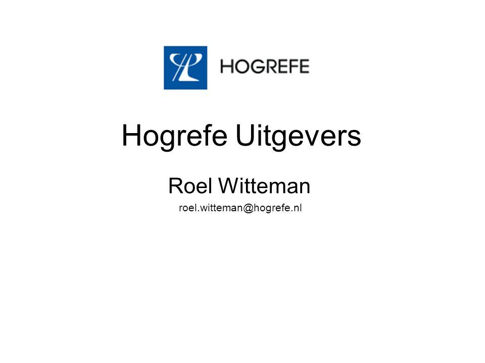 Hogrefe Uitgevers Roel Witteman roel.witteman@hogrefe.nl