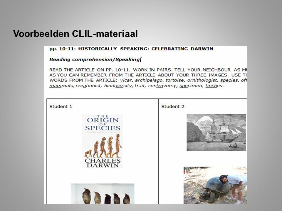 Voorbeelden CLIL-materiaal