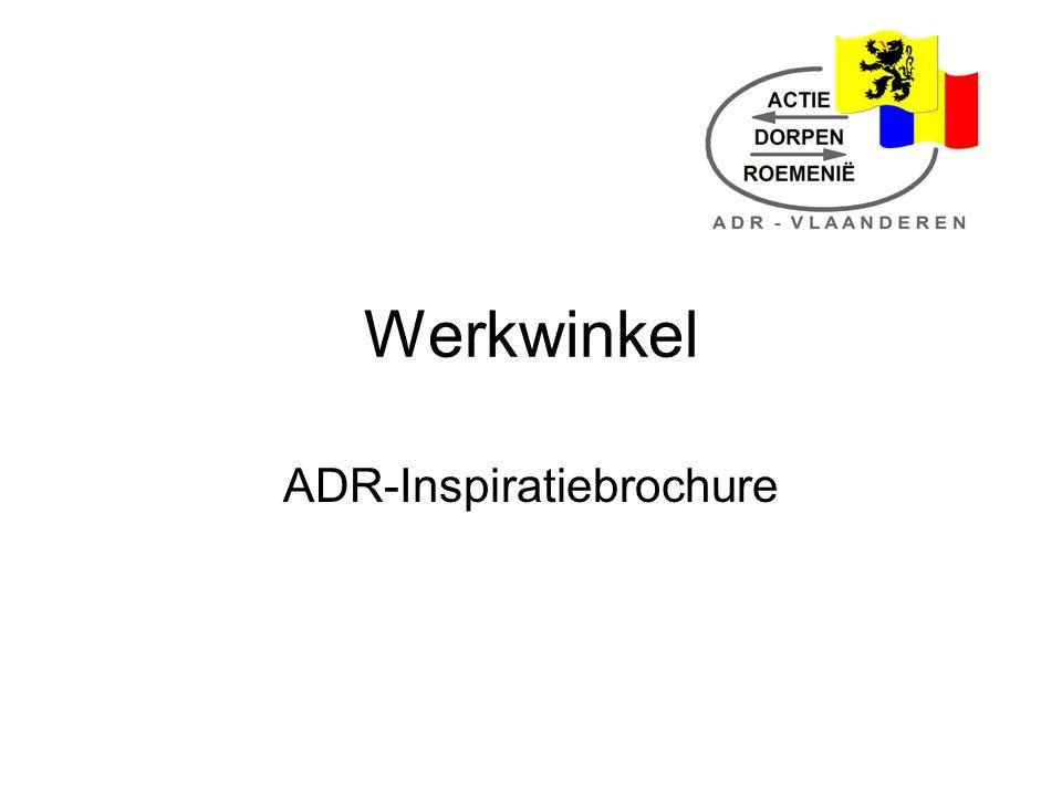 Werkwinkel ADR-Inspiratiebrochure