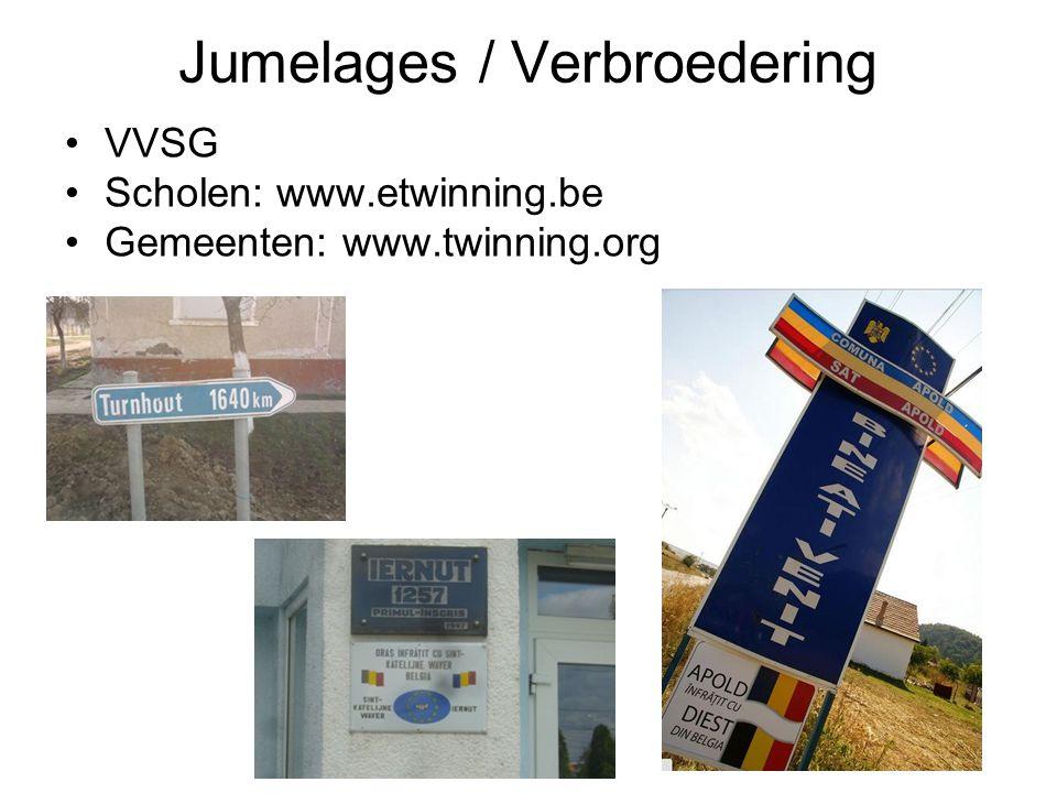 Jumelages / Verbroedering VVSG Scholen: www.etwinning.be Gemeenten: www.twinning.org