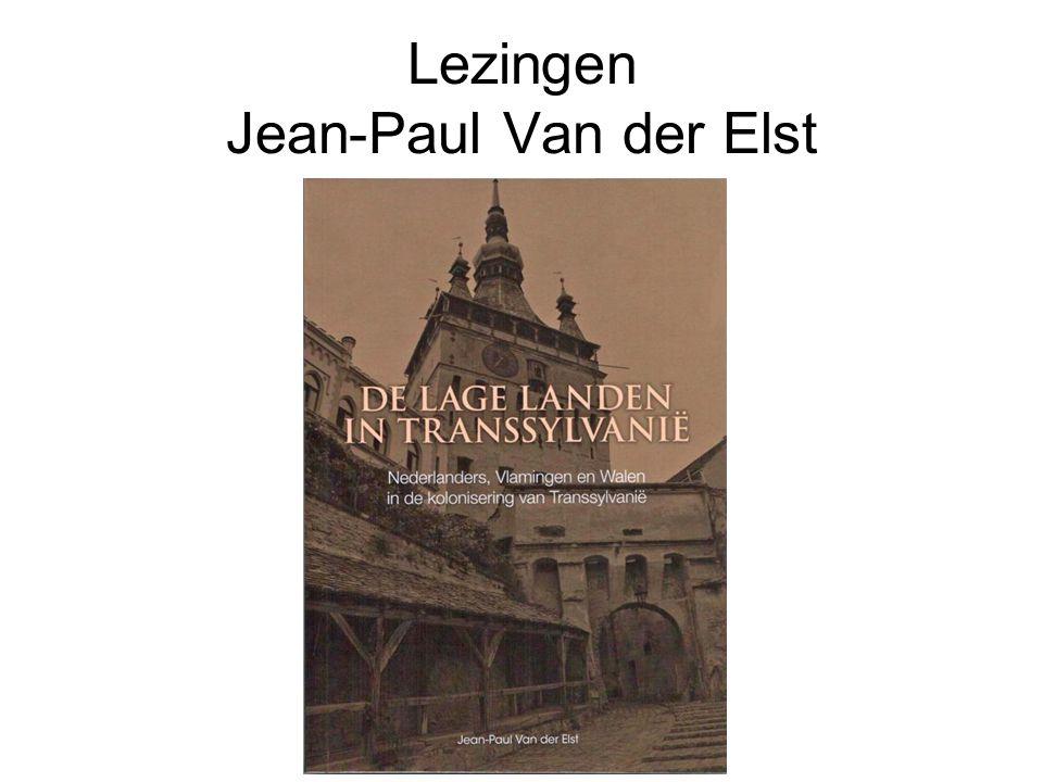 Lezingen Jean-Paul Van der Elst