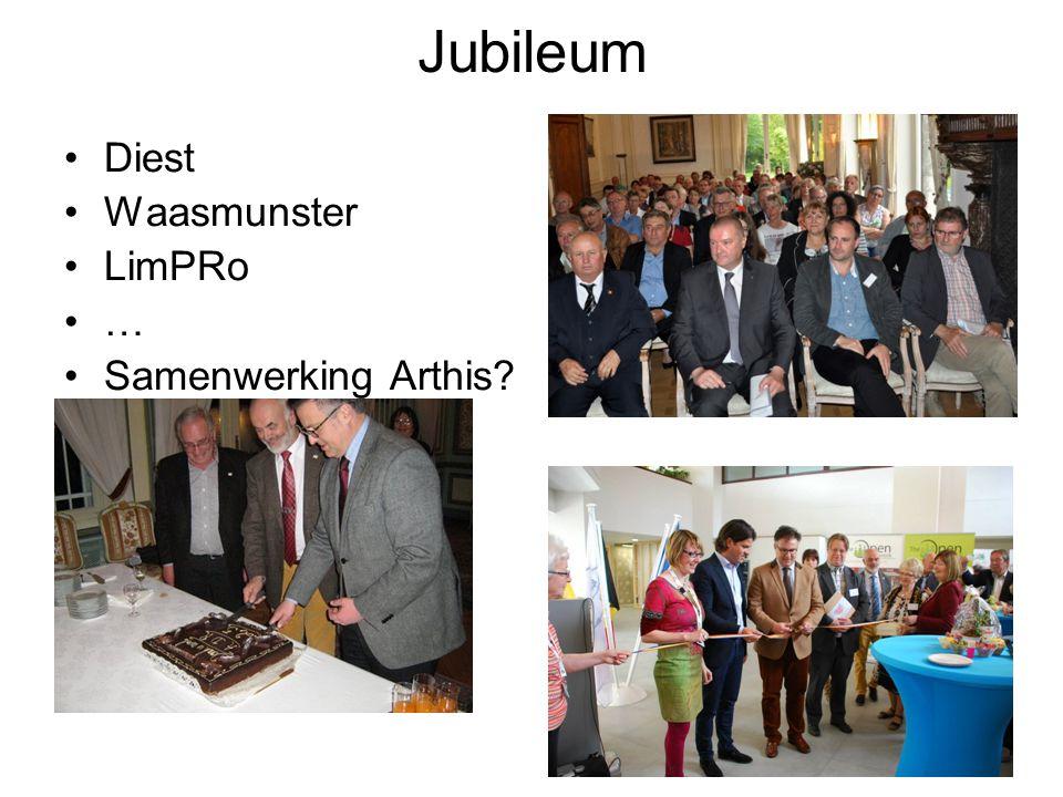 Jubileum Diest Waasmunster LimPRo … Samenwerking Arthis