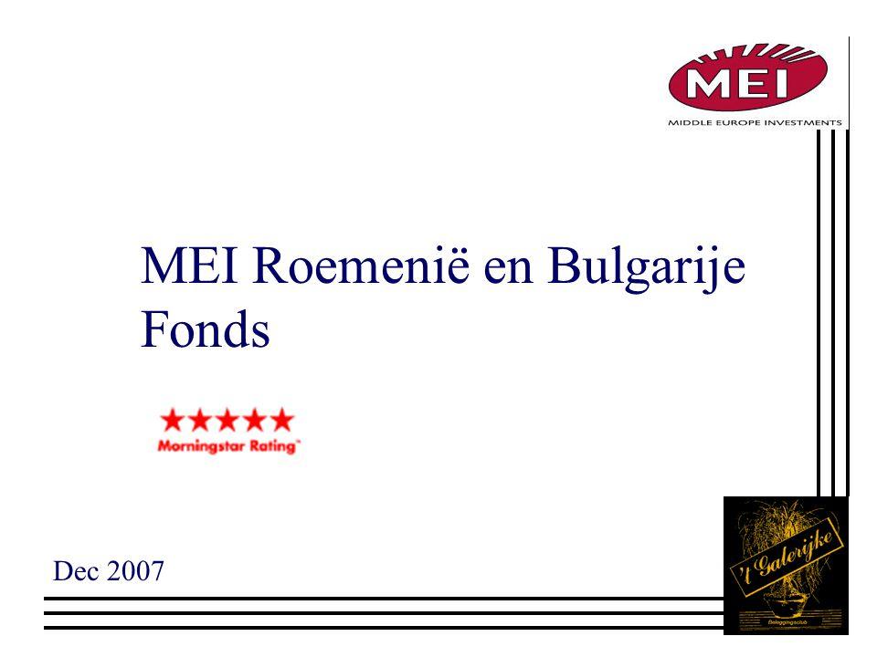 MEI Roemenië en Bulgarije Fonds Dec 2007