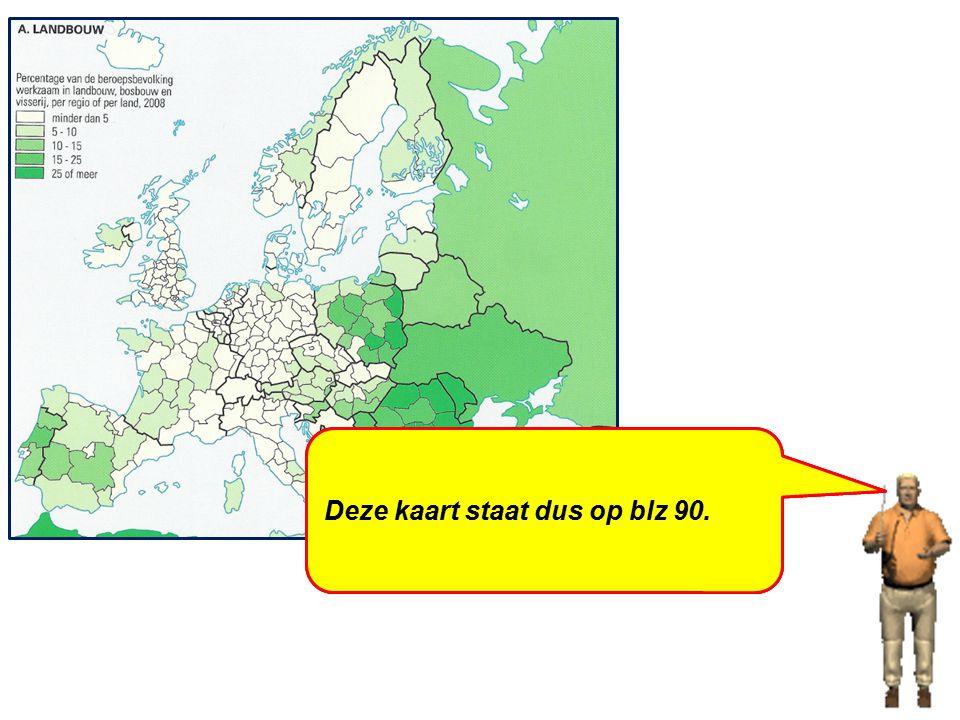 b-Neem de kaart 'Europa: werken / landbouw' voor je. Neem je de ingang 'Europa' of de ingang 'werken'? De ingang 'Europa' is via de inhoudsopgave. De