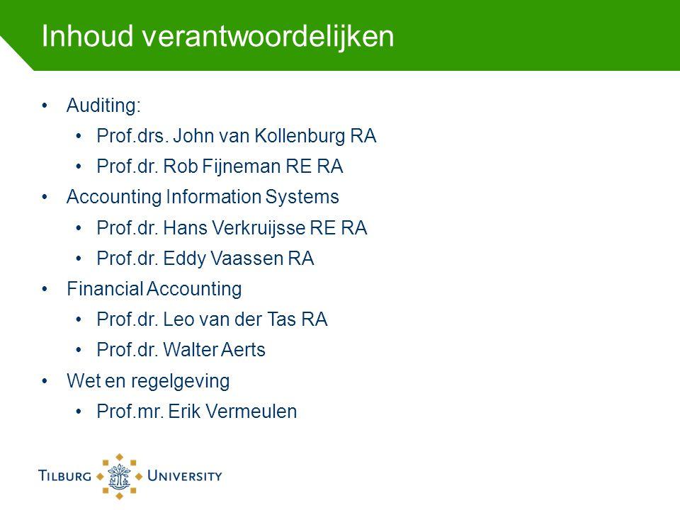 Commissies Examen commissie en opleidingscommissie: Prof.drs.