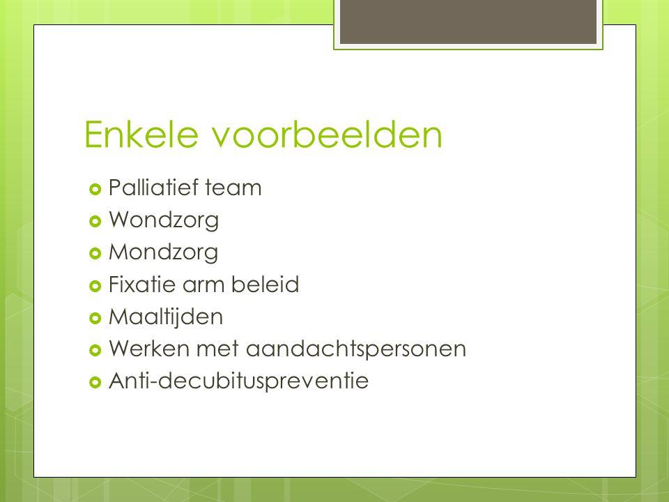 Verplichte kwaliteitscontroles - Opgelegd door de Vlaamse Gemeenschap - Wordt nagezien tijdens de inspectiebezoeken - Deze bezoeken zijn onaangekondigd - Tussentijdse opgelegde metingen