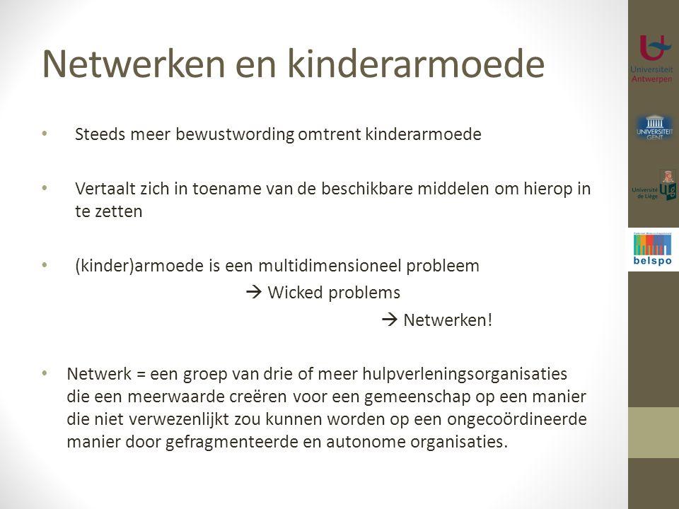 Netwerken en kinderarmoede Steeds meer bewustwording omtrent kinderarmoede Vertaalt zich in toename van de beschikbare middelen om hierop in te zetten