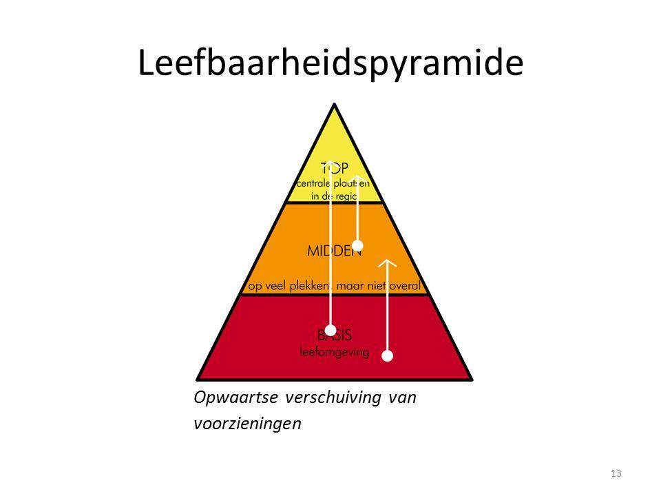 Leefbaarheidspyramide Opwaartse verschuiving van voorzieningen 13