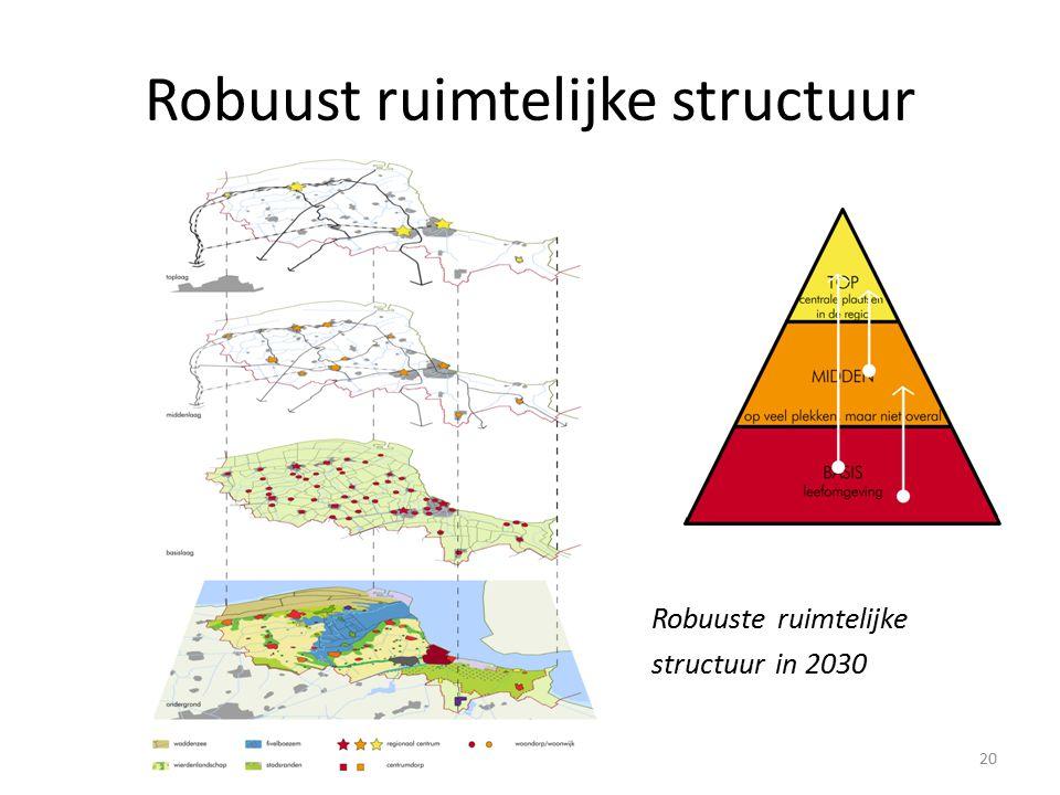 Robuust ruimtelijke structuur Robuuste ruimtelijke structuur in 2030 20