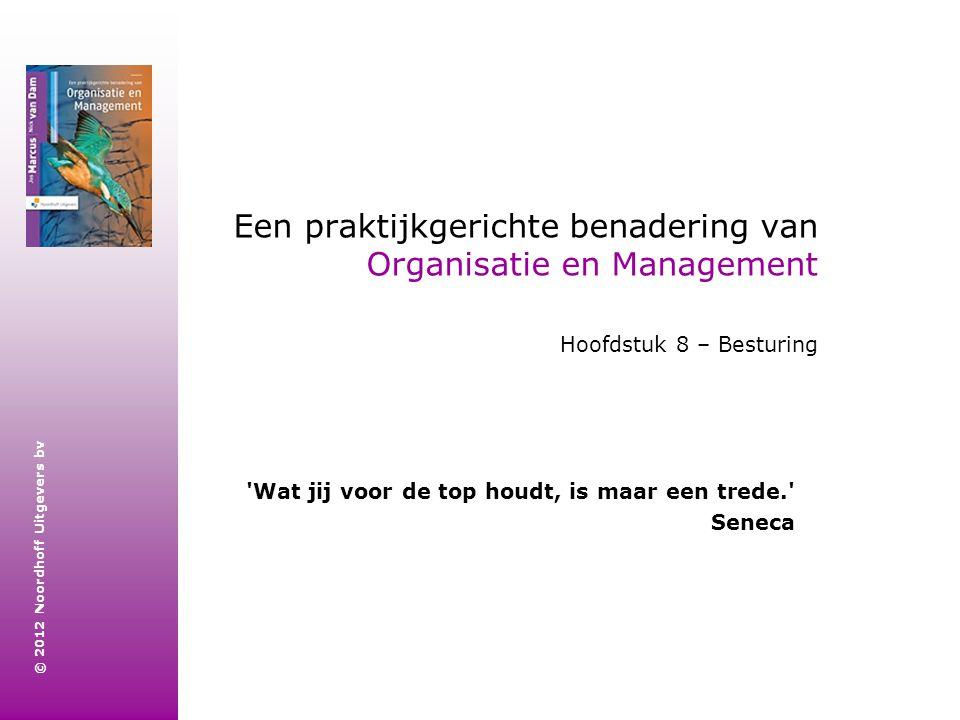 © 2012 Noordhoff Uitgevers bv Een praktijkgerichte benadering van Organisatie en Management Hoofdstuk 8 – Besturing 'Wat jij voor de top houdt, is maa