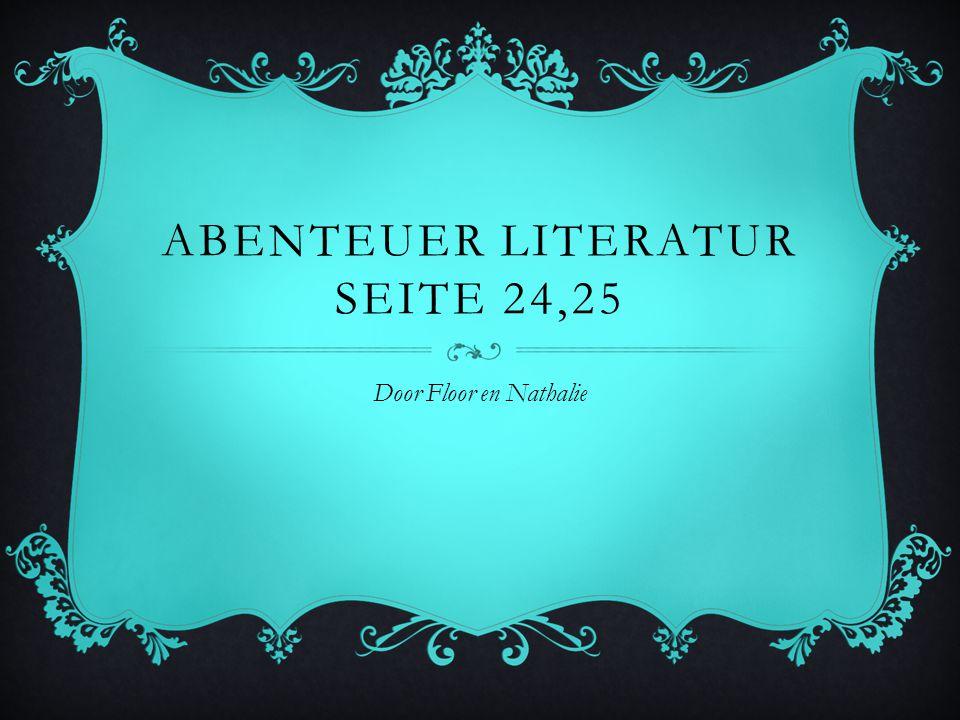 ABENTEUER LITERATUR SEITE 24,25 Door Floor en Nathalie