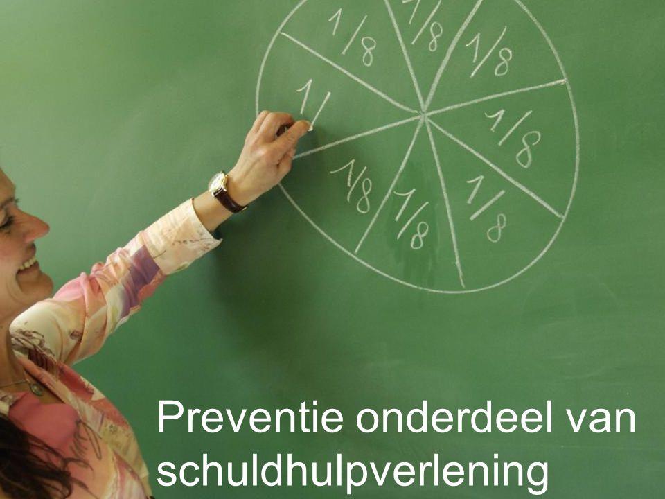 Preventie onderdeel van schuldhulpverlening