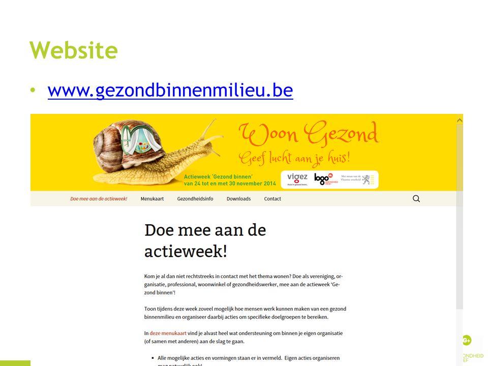 Website www.gezondbinnenmilieu.be