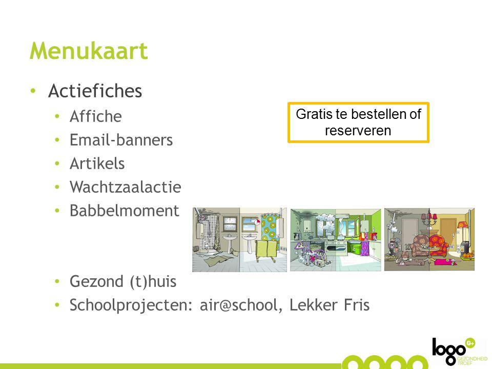 Menukaart Vormingsfiches Workshop 'Proper Thuis'  Hoe gezond en veilig omgaan met schoonmaakproducten en pesticiden in de woning.