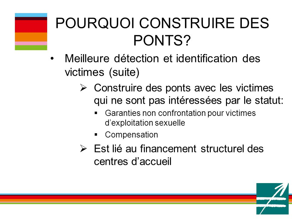 POURQUOI CONSTRUIRE DES PONTS.