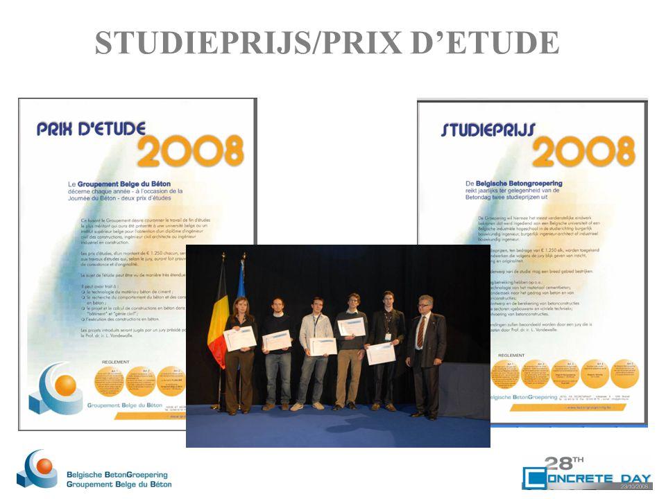 STUDIEPRIJS/PRIX D'ETUDE