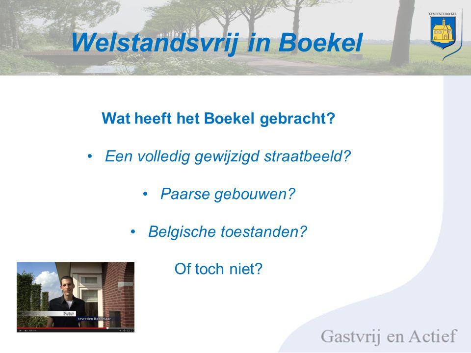 Welstandsvrij in Boekel Wat heeft het Boekel gebracht.