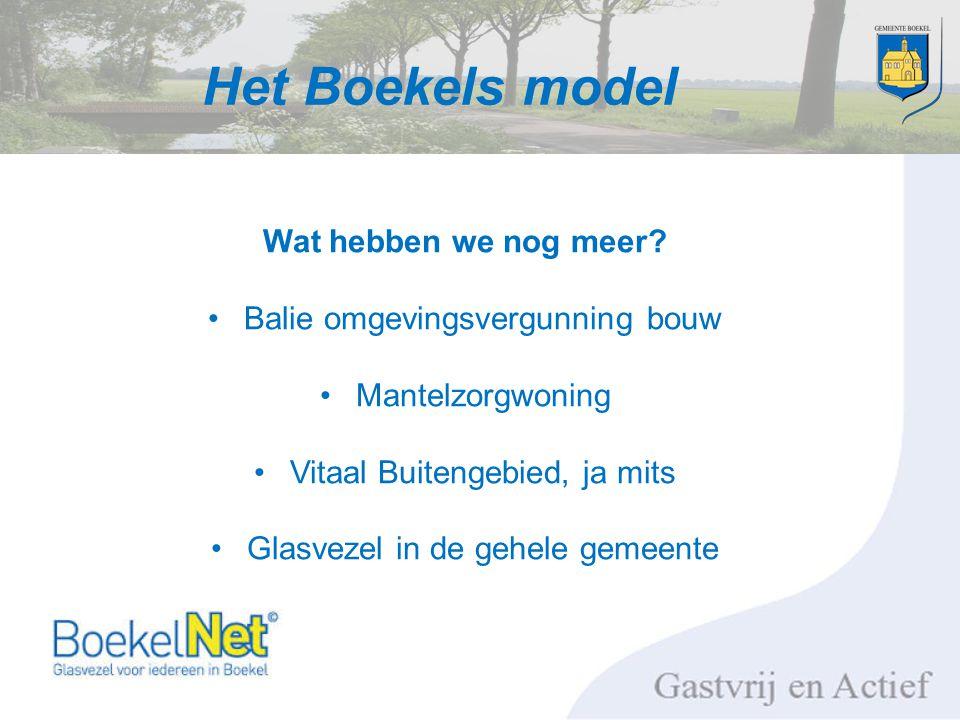 Het Boekels model Wat hebben we nog meer.