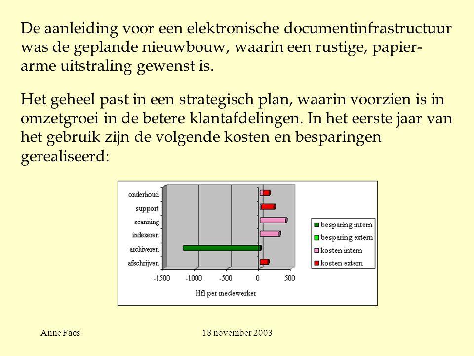 Anne Faes18 november 2003 Het geheel past in een strategisch plan, waarin voorzien is in omzetgroei in de betere klantafdelingen.