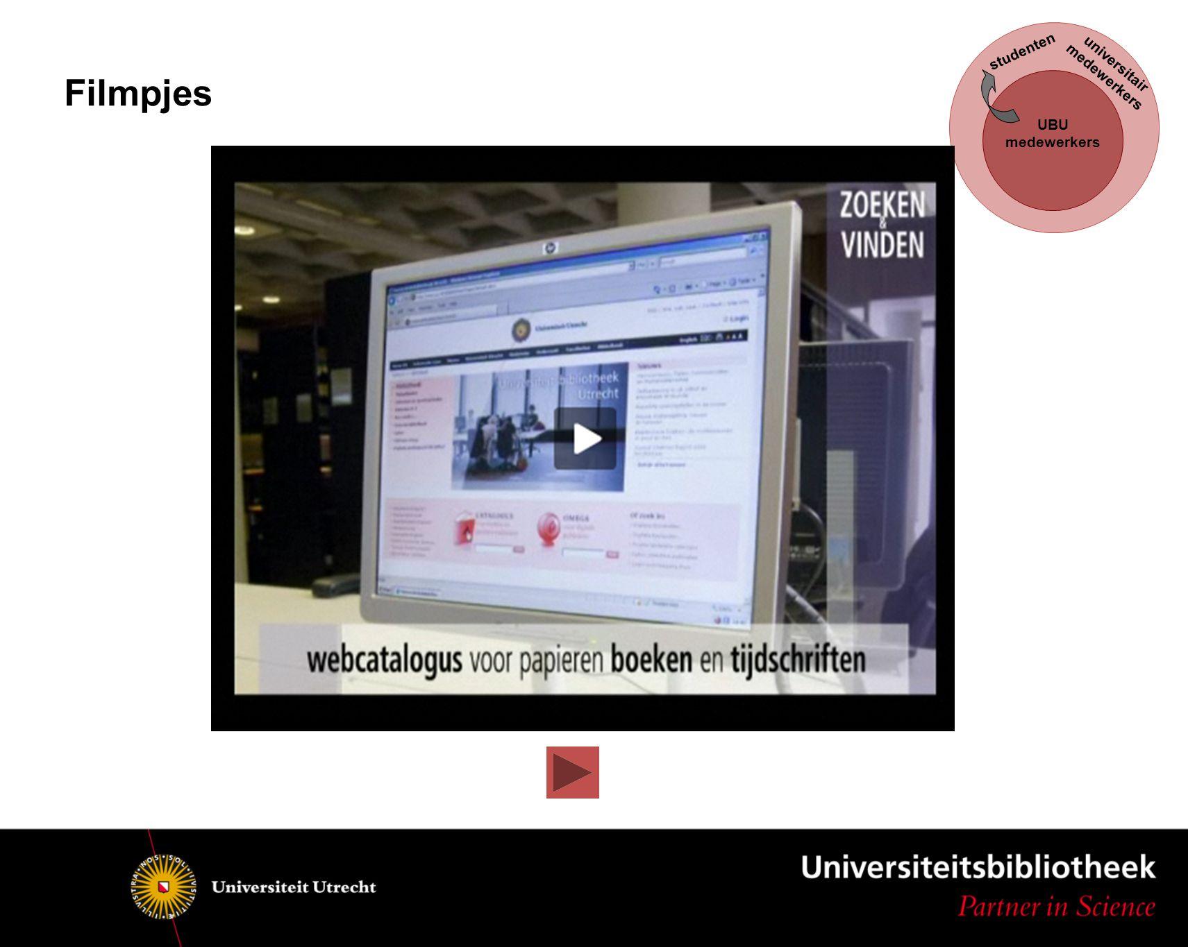 UBU medewerkers studenten universitair medewerkers Filmpjes
