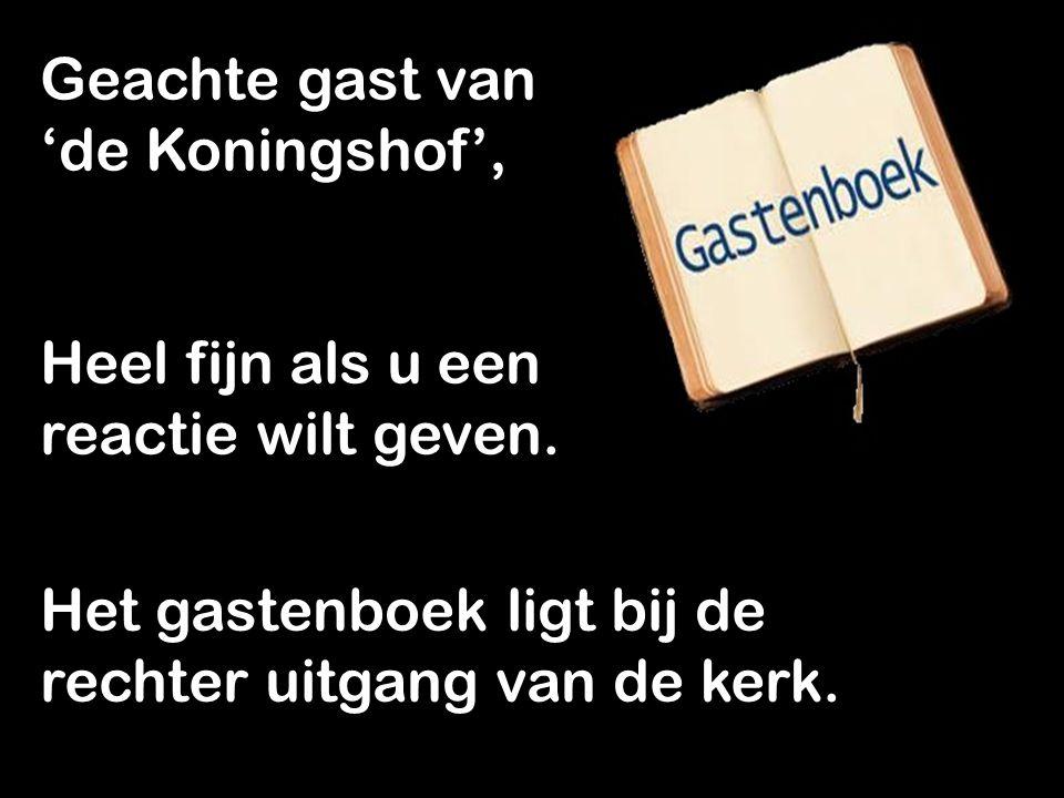 Uw mededeling ook op het scherm? Mail naar: kb@gkv-leusden.nl